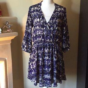 Lush Blue 3/4 Sleeves Dress